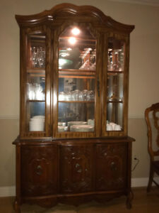 Glass Top Dining Set and Matching Hutch/China Cabinet $900 OBO