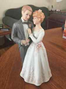 """On the Day We Were Wed"" Wedding Couple Porcelain Figurine"
