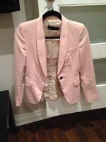 Zara woman light pink blazer size XS
