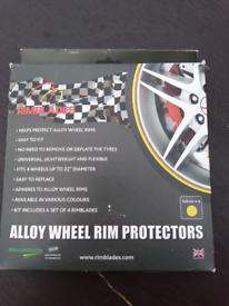 Alloy wheel protectors (yellow)