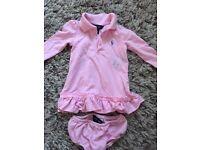 Ralph Lauren pink dress with knickers