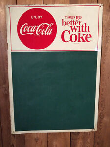 ORIGINAL TIN COCA COLA 1963 TIN MENU BOARD
