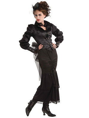 Female Steampunk Outfits (Adult Female Steampunk Victorian Lady Fancy Dress Costume Medieval Party)