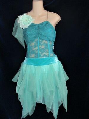 Lyrical Lace Jagged Sheer Corset Jazz Curtain Call Costume - Algen Kostüm