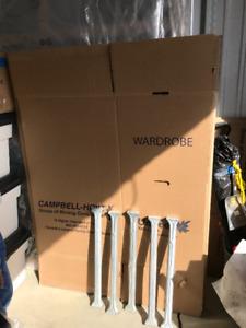 Corrugated / 5-Wardrobe Moving / 3- Mirror packing Storage Boxes