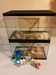 Hermit crabs aquariums and stuff for sale.