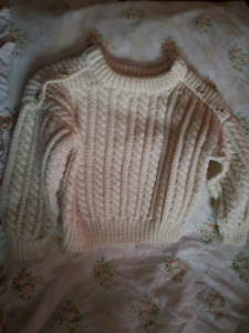 White knit sweater 3T-4T