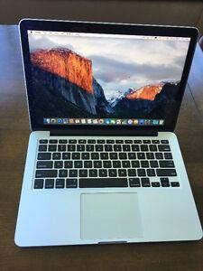 """Late 2013 13"""" Macbook Pro Retina w/ AppleCare, 2.4 i5 4GB 128GB"""
