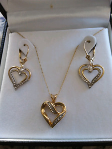14 ct yellow gold set