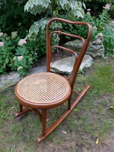 Small Cane Seat Rocking Chair