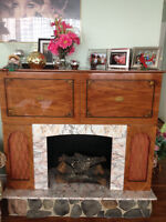 Unique working fireplace