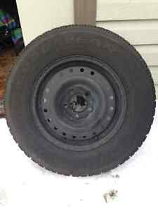 Goodyear Nordic Winter tires on Rims