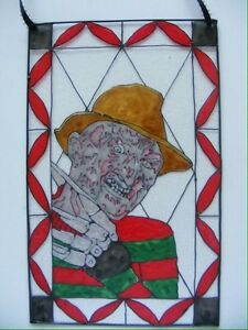 Freddy Krueger Nightmare On Elm Street Stained Glass Painting