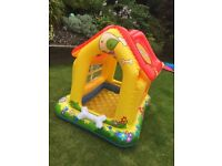 Intex puppy love dog house theme baby/toddler shaded paddling pool
