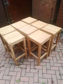 8 bar stools hardwood