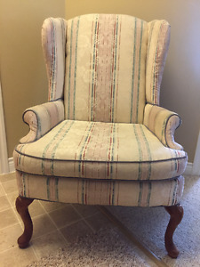Matching Pair Winged Back Chairs