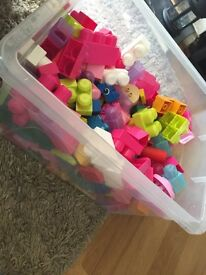 Box of duplo and other building blocks