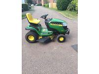 John Deers X145 ride on lawn mower