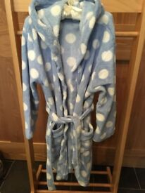 Girls John Lewis fleece dressing gown age 9