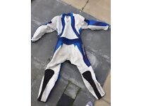 Motorcycle one piece leather suit