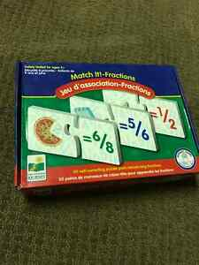 Match It!-Fractions self correcting puzzle