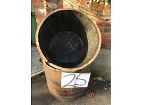 Half oak barrel planter