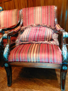 Pair Bergere Accent Chairs