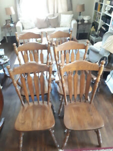 6 Oak Kitchen Chairs