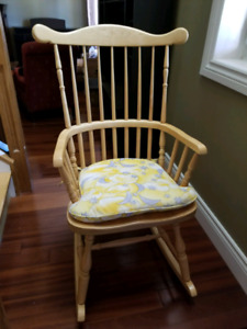 Rocking chair... solid maple