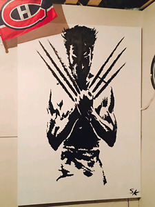 Wolverine canvas  hand painting