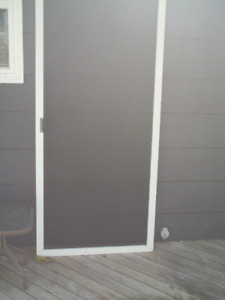 padio sliding screen door measures 79 3\4 by 35 inches