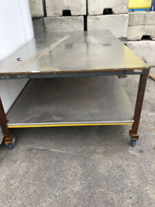 Strong table for garage work