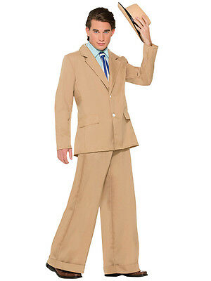 1920s Male Outfit (Mens Gold Coast Gentleman 1920s Suit Fancy Dress Costume Nucky Thompson)