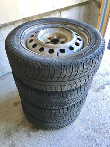 Set of 4 Michelin X-Ice 205/55r 16 Extra Load Tires (On Rims)