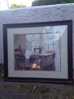 Beautiful Sewing Picture with Frame - $15