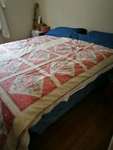 Queen size box spring an mattress with frame. BRAND NEW.
