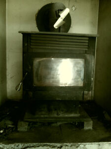 Complete Airtight Wood burning Stove all Piping (still up)