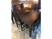 Lombok Wooden Dining Room Table and Chairs (8)