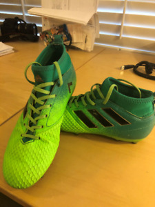 adidas Youth Ace 17.3 PrimeMesh Soccer Cleats - Green Black