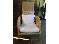 Wicker armchair, chair, woven chair