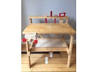 Children's workbench with tools