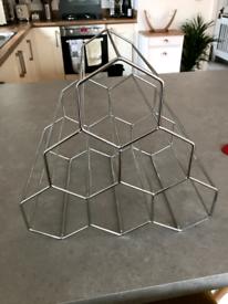 6 Bottle, Hexagonal Wine Rack