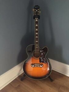 Epiphone Super Jumbo Acoustic/Electric with Case
