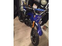 50cc kids bike pulls well only use 3 times still like new 2015 model with the keys 150 ono