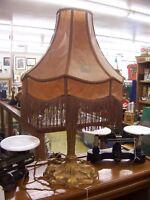 Antique Art Deco lamp with original shade