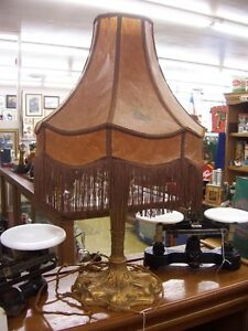 Antique Art Deco lamp with original shade