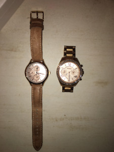 Authentic rose gold Fossil Watches