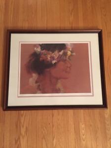 Hawaiian Dancer Framed Painting