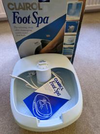 Clairol Foot Spa Bath Excellent Condition Original Box with Instructio