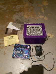 Electro Harmonix EHX Cathedral Stereo Reverb Pedal.